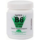 B6 Vitamin 50 mg. Natur Drogeriet - 50 tabletter