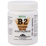 Mega B2-vitamin 20 mg. 100 tabletter.