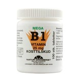 Mega B1 vitamin 25 mg. 100 tabletter.