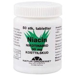 Niacin (B3-vitamin) 30 mg. 50 tabletter.