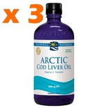 Nordic Naturals Cod liver oil (torskelevertran) flydende. - 3 x 473 ml.