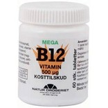B12 mega vitamin 500 mcg. 60 tabletter