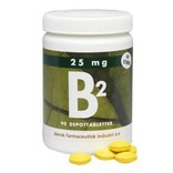 DFI B2-vitamin 25 mg. 90 Tabletter