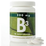 DFI B3-vitamin 200 mg. 90 tabletter